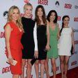 Julie Benz, Yvonne Strahovski, Jennifer Carpenter et Aimee Garciaà la soirée de présentation de la dernière saison de Dexter, à Hollywood, le 15 juin 2013.