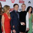 Jennifer Carpenter, Julie Benz, Michael C. Hall, Yvonne Strahovski et Aimee Garcia à la soirée de présentation de la dernière saison de Dexter, à Hollywood, le 15 juin 2013.