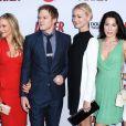 Julie Benz, Jennifer Carpenter, Jadon Wells et Michael C. Hall à la soirée de présentation de la dernière saison de Dexter, à Hollywood, le 15 juin 2013.