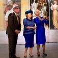 La princesse Beatrix des Pays-Bas au vernissage de l'exposition Huygens à la Grote Kerk de La Haye le 24 avril 2013