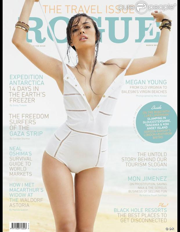 Megan Young, Miss Monde 2013 : terriblement sexy en couverture de Rogue