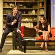 Pierre Palmade et Camille Cottin lors du filage de la pièce Le fils du comique au théâtre Saint-Georges, le 26 septembre 2013 à Paris