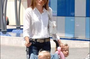 PHOTOS : La princesse Letizia en promenade avec ses filles...