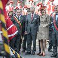Le roi Philippe et son épouse la reine Mathilde de Belgique étaient en visite à Namur, sixième étape de leur tournée inaugurale Joyeuses entrées, le 2 octobre 2013.