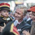 Le roi Philippe et la reine Mathilde de Belgique étaient en visite à Namur, sixième étape de leur tournée inaugurale Joyeuses entrées, le 2 octobre 2013.