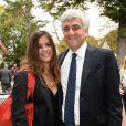 Herve Morin et sa fille Clementineau 92e Qatar Prix de l'Arc de Triomphe sur l'hippodrome de Longchamp à Paris le 6 octobre 2013.