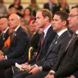 Michael Owen et le prince William d'Angleterre lors des 150 ans de la FA à Buckingham Palace le 7 octobre 2013.