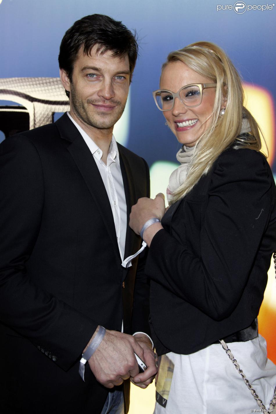 Elodie Gossuin et son mari Bertrand Lacherie à la soirée BMWi Borne Electric Tour à Paris. Le 3 avril 2013.