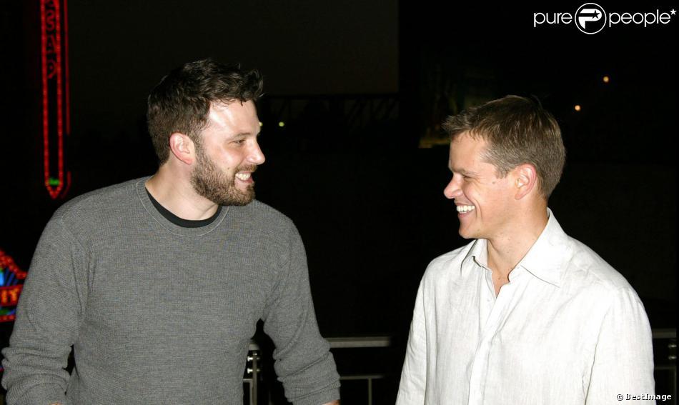Ben Affleck et Matt Damon à Hollywood le 13 juillet 2004