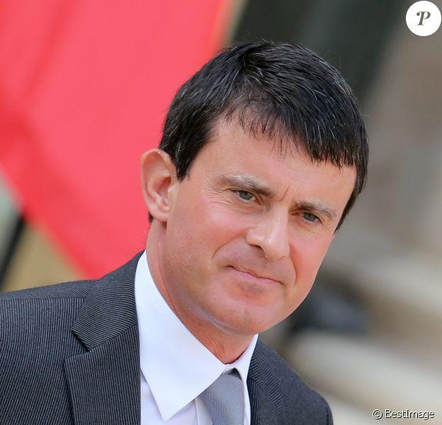 Manuel Valls, ministre de l'Intérieur, à Paris le 2 octobre 2013 au conseil des ministres à l'Elysée