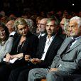 Claudia Cardinale, Luana et Paul Belmondo, Jean-Paul Belmondo lors de la soirée d'ouverture du Festival Lumière à Lyon et l'hommage à Jean-Paul Belmondo au sein de la Halle Tony Garnier, le 14 octobre 2013