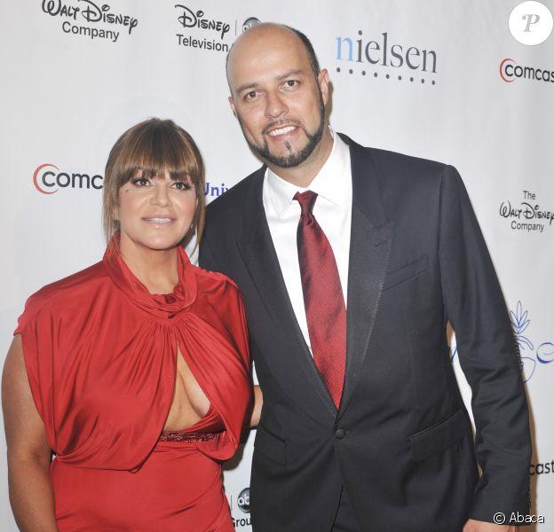 Jenni Rivera et Esteban Loaiza à la 27e cérémonie Annual Imagen Awards à Beverly Hills, le 10 août 2012.