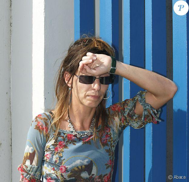 Kristina Rady rend visite à Bertrand Cantat à la prison de Muret, le 2 octobre 2004.
