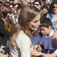 La sublime princesse Letizia d'Espagne lors du Congrès National des Maladies rares à Murcie, le 18 Octobre 2013.