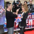 "Simon Cowell et Amanda Holden pour le lancement de la nouvelle saison de ""Britain's Got Talent"" à Londres, le 11 avril 2013."