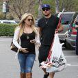 L'actrice Tiffany Thornton et son époux Christopher, en avril 2012 à Los Angeles.