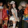 Kelly Brook participe à une soirée spéciale Halloween, dans le quartier de Brentwood, à Los Angeles, le vendredi 25 octobre 2013.
