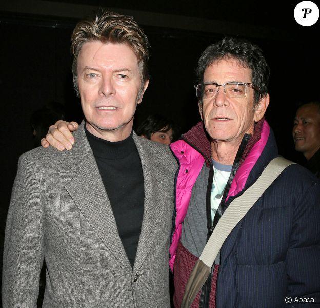 David Bowie et Lou Reed au Tribeca Grand Hotel de New York le 20 novembre 2006