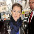 Céline Dion à la sortie de son hôtel à New York, le 29 octobre 2013.