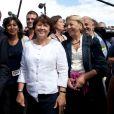Anne Hidalgo, Jean-Marc Germain, Bruno Julliard, Martine Aubry et Marylise Lebranchu à La Rochelle le 26 août 2011.