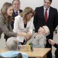 Letizia d'Espagne inaugurant le 29 octobre 2013 à Tolède la maison de retraite El Greco.