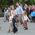 Letizia et Felipe d'Espagne en visite à Grenade avec leurs filles Leonor et Sofia le 1er novembre 2013