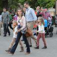 Letizia et Felipe d'Espagne à Grenade avec leurs filles Leonor et Sofia le 1er novembre 2013