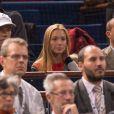 Jelena Ristic le 31 octobre 2013 lors de la victoire de son fiancé Novak Djokovic contre John Isner en huitième de finale de l'Open de Paris Bercy.