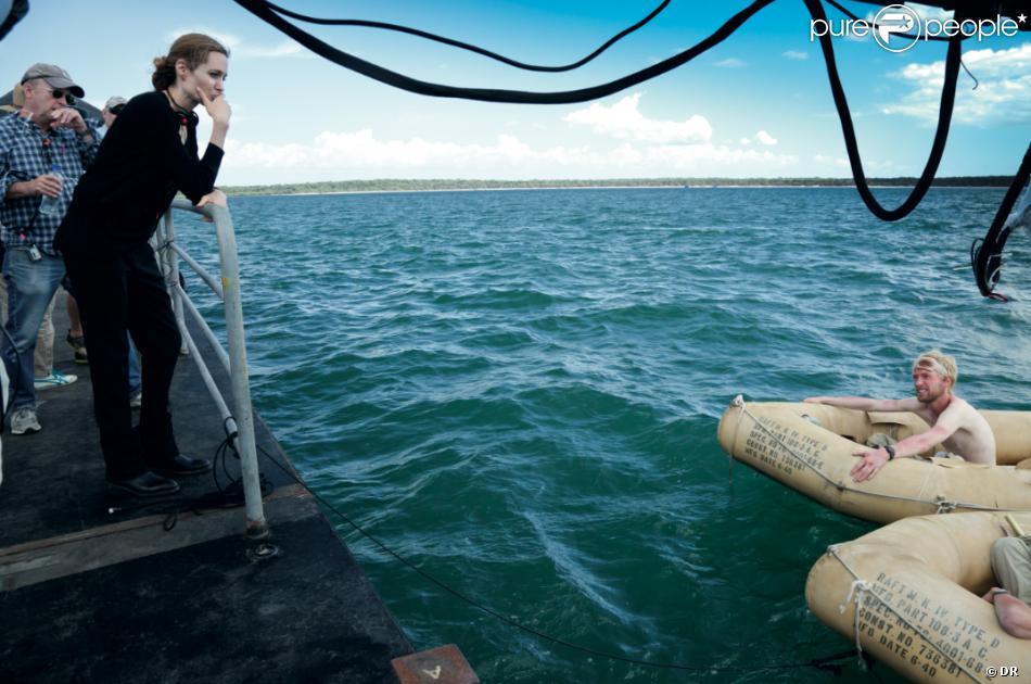 Angelina Jolie en action sur le tournage d'Unbroken en Australie.