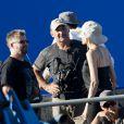 Angelina Jolie sur le tournage d'Unbroken à Brisbane, le 22 octobre 2013.