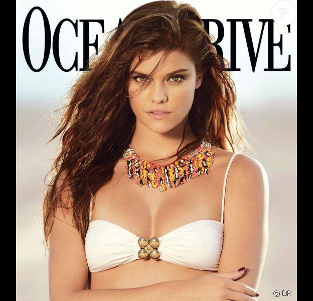 Nina Agdal en couverture du magazine Ocean Drive de novembre 2013. Photo par Gavin Bond.