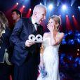 """Jean-Paul Gaultier et Kylie Minogue au gala """"GQ Men of the Year Awards"""" à Berlin, le 7 novembre 2013."""