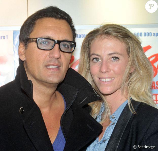 Dany Brillant et sa femme Nathalie lors de la représentation de la nouvelle version en live du spectacle musical, signé par Dove Attia et Albert Cohen, au Palais des Sports a Paris, le 7 Novembre 2013