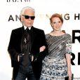 Karl Lagerfeld et Jessica Chastain lors de la soirée Honoring Karl Lagerfeld à New York. Le 6 novembre 2013.