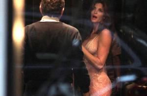 Stephanie Seymour, sexy : Shopping de lingerie avec son mari milliardaire