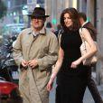 Exclusif - Peter Brant et sa femme top model Stephanie Seymour quittent une boutique Agent provocateur à Milan. Le 22 octobre 2013.