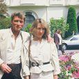 Nathalie Baye et Johnny Hallyday à Cannes le 20 mai 1984.