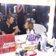 Exclu : Johnny Hallyday et Nathalie Baye dans la loge du POB de Bercy après le concert du 15 juin 2013.