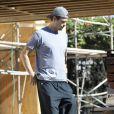 Exclusif - Josh Duhamel dans le quartier de Brentwood. Le 14 novembre 2013.