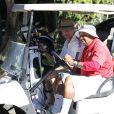 Josh Duhamel est allé jouer au golf pour son anniversaire. Brentwood, Los Angeles, le 14 novembre 2013.