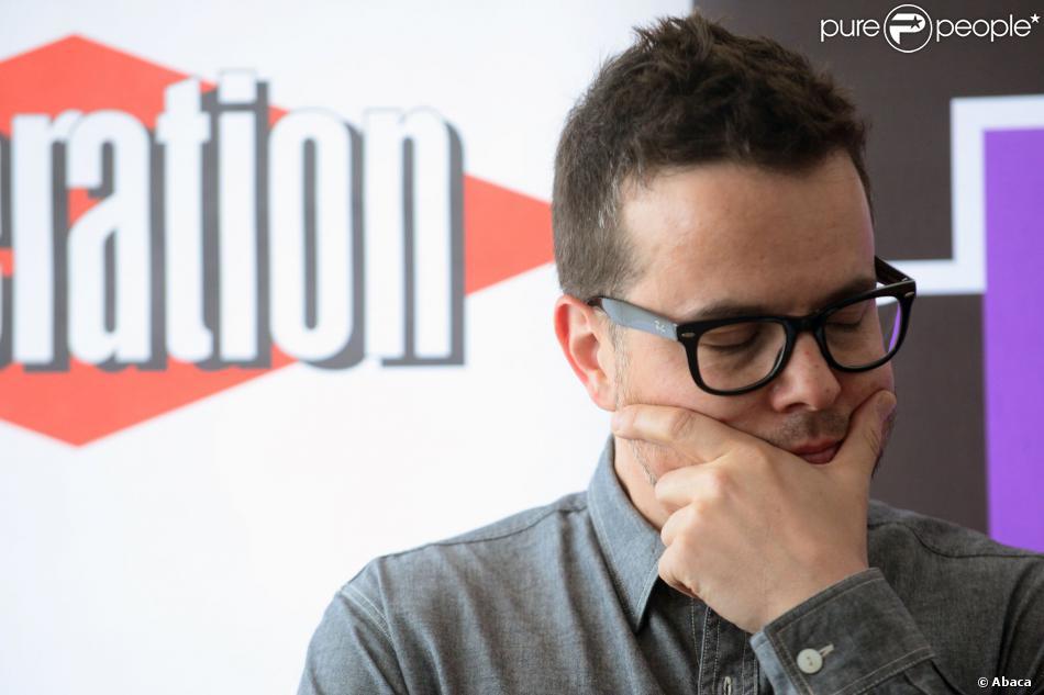 Nicolas Demorand, directeur de la rédaction de Libération, à Paris le 18 mai 2013.