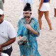Katy Perry sur la plage avec des amis à Miami, le 17 novembre 2013.