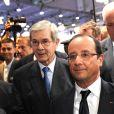 François Hollande et Philippe Varin lors du salon de l'Automobile à Paris, le 28 septembre 2012