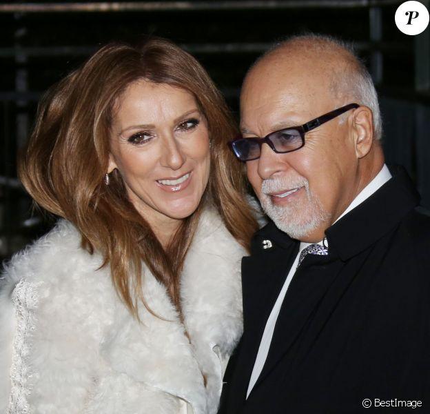 """Céline Dion et son mari René Angélil arrivent à l'enregistrement de l'émission """"Vivement dimanche"""" au studio Gabriel, à Paris, le 13 novembre 2013. L'émission sera diffusée le 17 novembre."""