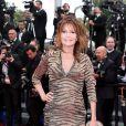 """Clémentine Célarié- Montée des marches du film """"Jeune et Jolie"""" pour l'ouverture du 66e Festival du film de Cannes le 16 mai 2013"""