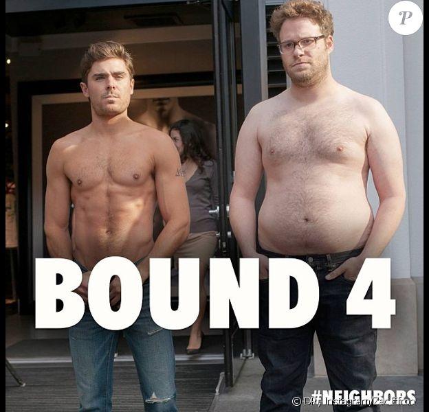 Zac Efron et Seth Rogen font la promo de leur film, Nos Pires Voisins (Neighbors) en parodiant le clip de Kanye West, Bound 2