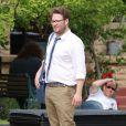 """Seth Rogen sur le tournage de """"Nos pires voisins"""" à Los Angeles, le 7 mai 2013"""