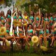 Le shooting en maillot de bain des 33 Miss régionales au Sri Lanka pour Miss France 2014