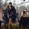 "Exclusif - Ginnifer Goodwin enceinte, Josh Dallas, Colin O'Donoghue - Tournage de la serie ""Once Upon A Time"" à Vancouver, le 27 novembre 2013."