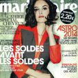 Charlotte Le Bon en couverture du magazine Marie Claire du mois de décembre 2013